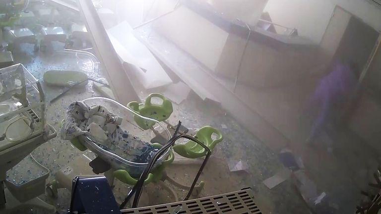 Inside Saint George Hospital when the blast struck