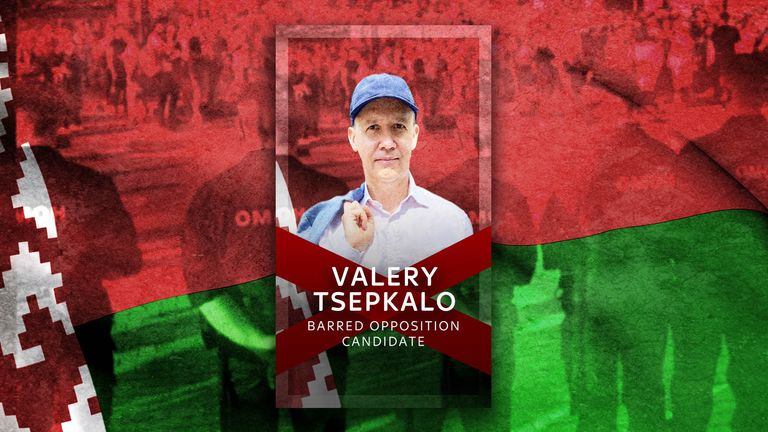 Valery Tsepkalo, an opposition candidate barred from the presidential election in Belarus