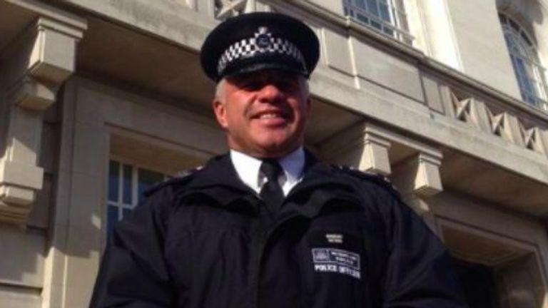 Matt Ratana, the police officer shot dead in Croydon, posing in his uniform
