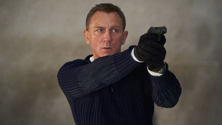 Daniel Craig as James Bond in No Time To Die. Pic: Nicola Dove