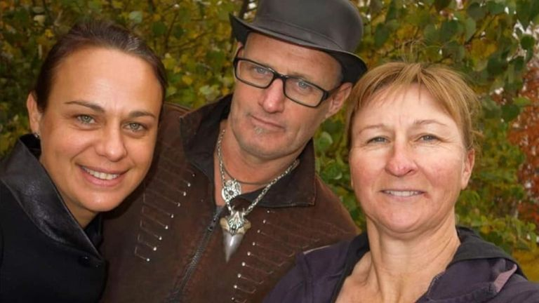 James Johnston with family members. Pic: GoFundMe