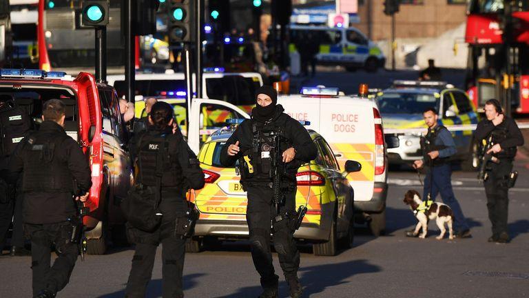 Armed police at the London Bridge Atrtack, November 29, 2019.