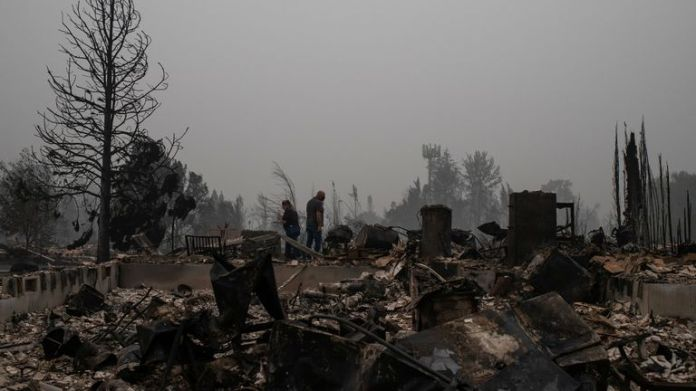 Couple in Oregon find their home destroyed by wildfires