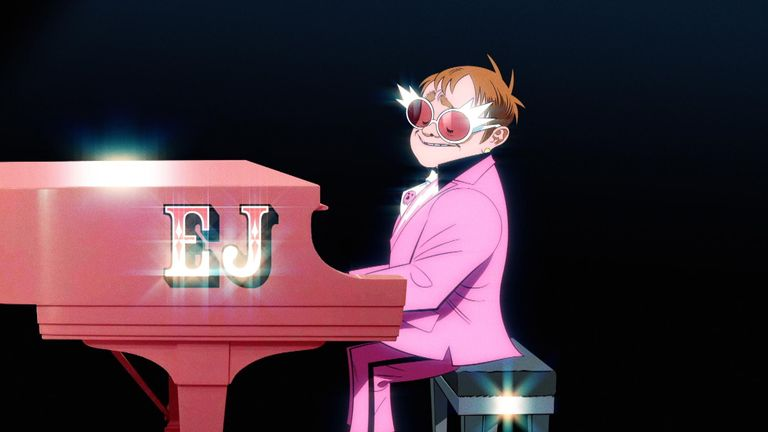 Albarn was meant to record with Sir Elton in Atlanta. Pic: The Pink Phantom/Warner Records