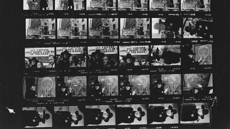JOHN LENNON EXHIBITION PHOTOGRAPHS AT BEATLES SOCIETY