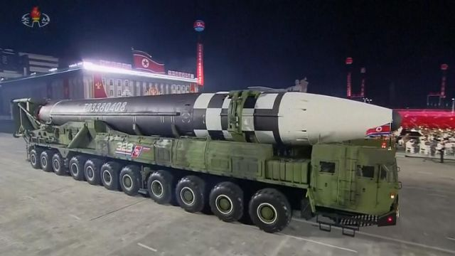 North Korea showed off what analysts are calling an unseen new intercontinental ballistic missile (ICBM)