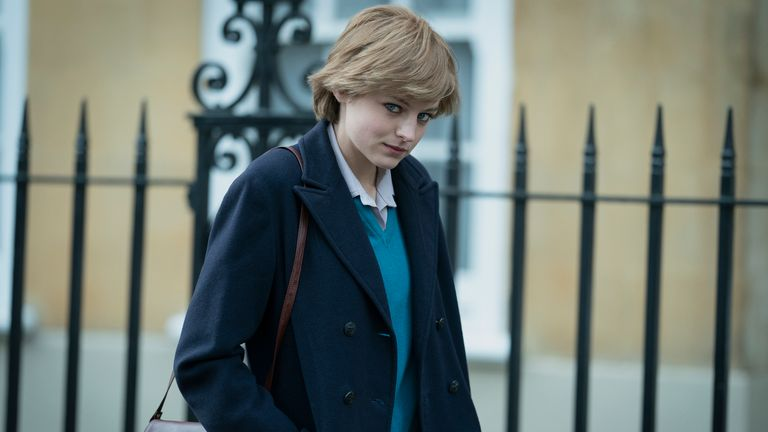 Princess Diana (EMMA CORRIN) in The Crown. Pic: Netflix/ Des Willie