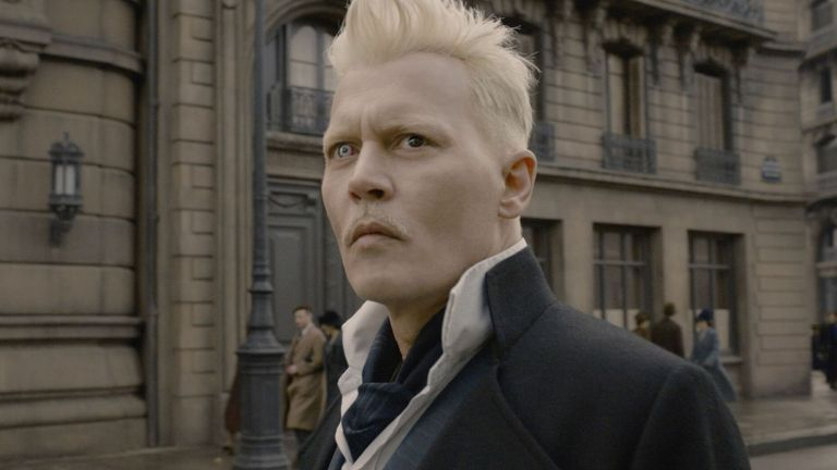 Johnny Depp as Gellert Grindelwald in Fantastic Beasts: The Crimes of Grindelwald - 2018. Pic: Warner Bros