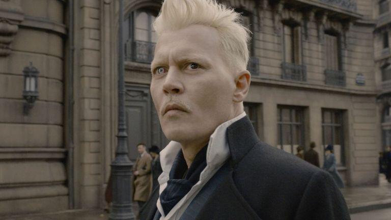 Johnny Depp as Gellert Grindelwald in Fantastic Beasts: The Crimes of Grindelwald - 2018. Pic: Warner Bros