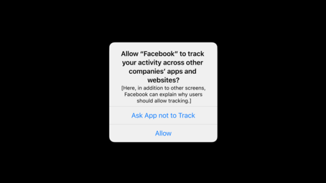 Apple will display a prompt giving users a choice over app tracking