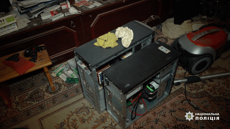 Dozens of computers were used to operate Emotet. Image: National Police of Ukraine