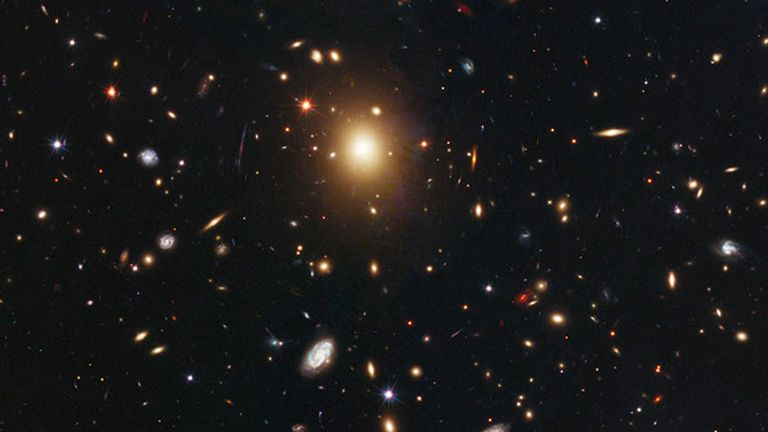 The galaxy is one of 25 within the Abel 2261 cluster spotted by Hubble. Pic: NASA