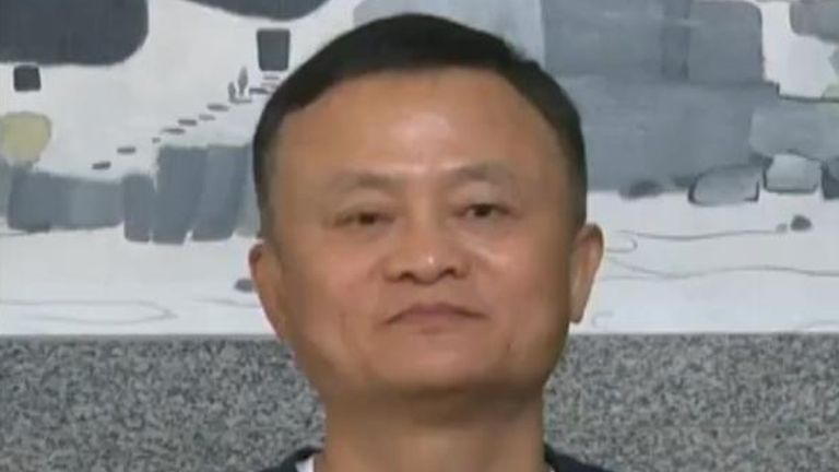 Jack Ma tweets. He is the co-founder and former CEO of the Alibaba Group