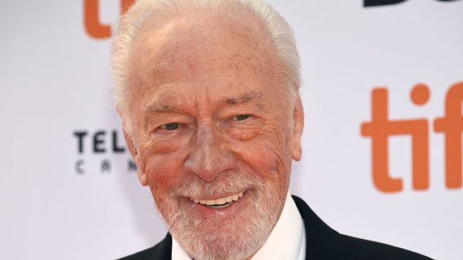 """Christopher Plummer attends the premiere for """"Knives Out"""" on day three of the Toronto International Film Festival at the Princess of Wales Theatre on Saturday, Sept. 7, 2019, in Toronto. (Photo by Evan Agostini/Invision/AP)"""