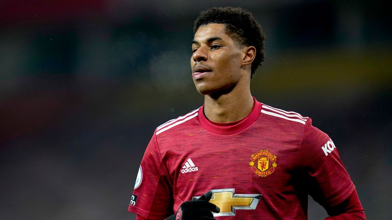 Manchester United's Marcus Rashford. Pic: Associated Pres