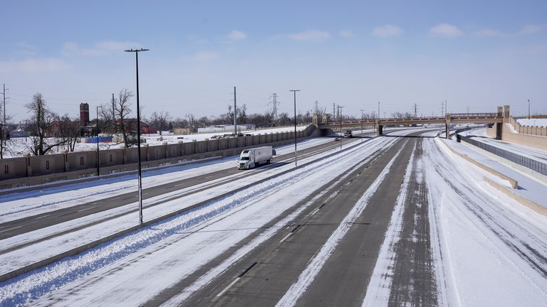 Nearly 120 road crashes were reported in Houston, Texas on Sunday alone due to icy roads.