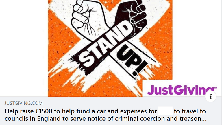 One call for donations was made using a Stand Up X logo