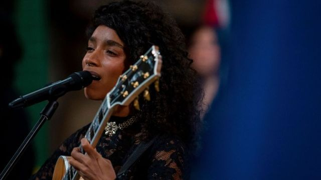 Singer songwriter Lianne La Havas performs during a pre-recording of the BBC's A Celebration for Commonwealth Day at Westminster Abbey in London. The annual Commonwealth Day service has been cancelled this year for the first time in nearly half a century, because of the Covid-19 pandemic. Picture date: Wednesday February 24, 2021. PA Photo. Photo credit should read: Aaron Chown/PA Wire