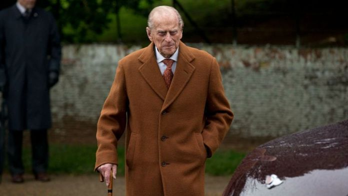 "FILE - In this file photo dated Friday, December 25, 2015, Britain's Prince Philip leaves after attending the British Royal Family's traditional Christmas church service at St. Mary Magdalene Church in Sandringham, England, Friday, December 25, 2015. Officials at Buckingham Palace said in a statement on Monday, May 30, 2016 that Prince Philip, 94, ""unwillingly"" decided to follow the doctor's advice and not to attend the upcoming centenary commemorations marking the Battle of Jutland in the northeast"