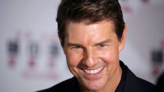 """Cast member Tom Cruise attends a news conference promoting his upcoming film """"Mission: Impossible - Fallout"""" in Beijing"""