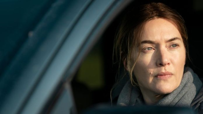 Kate Winslet plays at Mare Of Easttown.  Pic: Sky UK / HBO