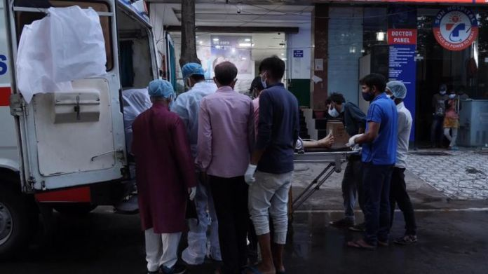 Outside Sun Hospital in Lucknow Uttar Pradesh