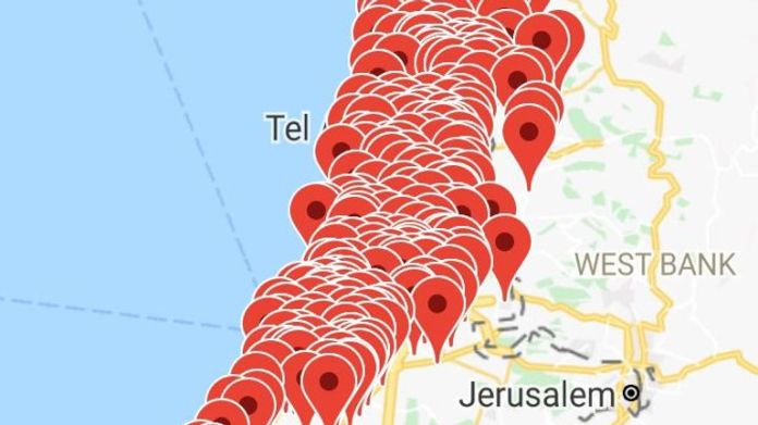 Israeli app monitoring rocket fire shows scale of attack in Tel Aviv