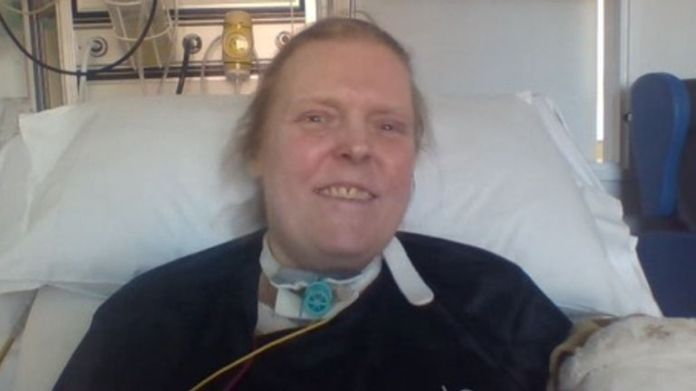 Jason Kelk has spent more than 13 months in intensive care at St James' Hospital in Leeds after contracting COVID-19 last year. Pic: Sue Kelk