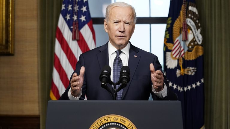 US President Joe Biden delivers remarks on his plan to withdraw American troops