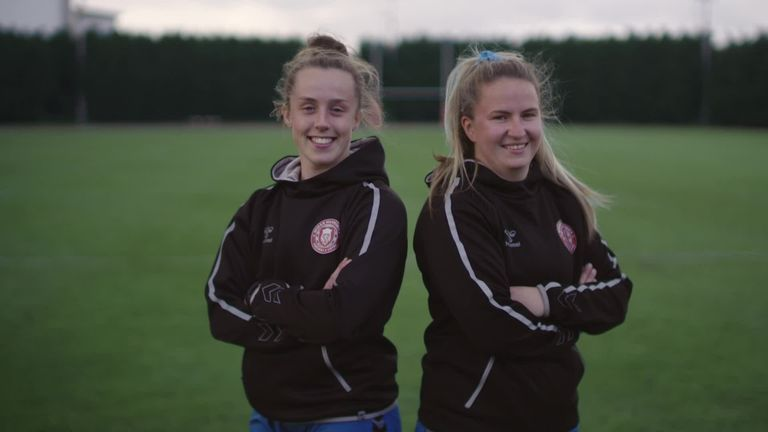 Ahead of Super League's Rainbow Laces round, Wigan Warriors' Becky Greenfield and Rachel Thompson talk about their experiences growing up and the importance of 'being yourself'