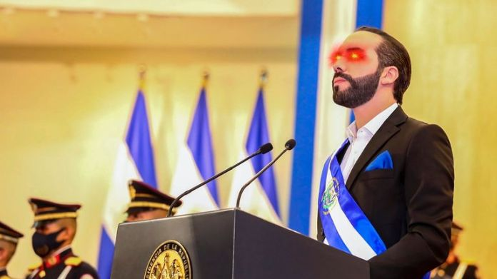 El Salvador President El Salvador President Nayib Bukele updated his Twitter profile picture to include laser eyes. Pic: Nayib Bukele / Twitter