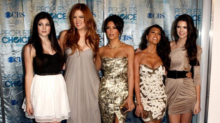 Kylie Jenner, Khloe Kardashian, Kim Kardashian, Kourtney Kardashian, and Kendall Jennerarrives at the People's Choice Awards on Wednesday, Jan. 5, 2011. Pic: AP