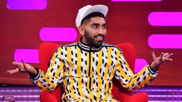 EDITORIAL USE ONLY Mawaan Rizwan during the filming for the Graham Norton Show at BBC Studioworks 6 Television Centre, Wood Lane, London, to be aired on BBC One on Friday evening.