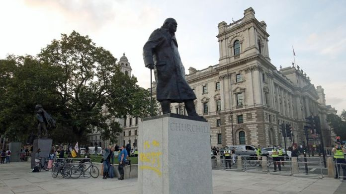Sir Winston Churchill statue was vandalised in September 2020