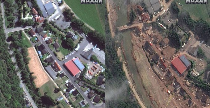 Germany floods: Before and after satellite images show devastation caused   World News