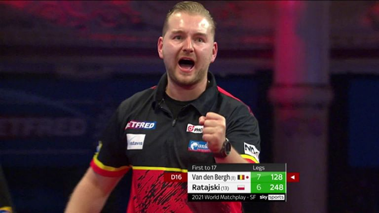 Check out Dimitri Van den Bergh's 100+ finishes as he reaches the World Matchplay Final to defend his title