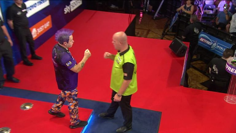 Peter Wright produces one of the greatest performances in World Matchplay history to book his place in Sunday's showpiece