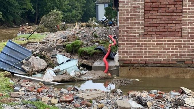 Pepinster, Belgium, has been ruined by flooding blamed on climate change