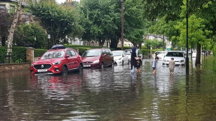 Forest Gate has been affected by the flooding. Pic: @iamstarbug79