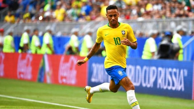 Brazil's Neymar at the World Cup in 2018. Pic: AP