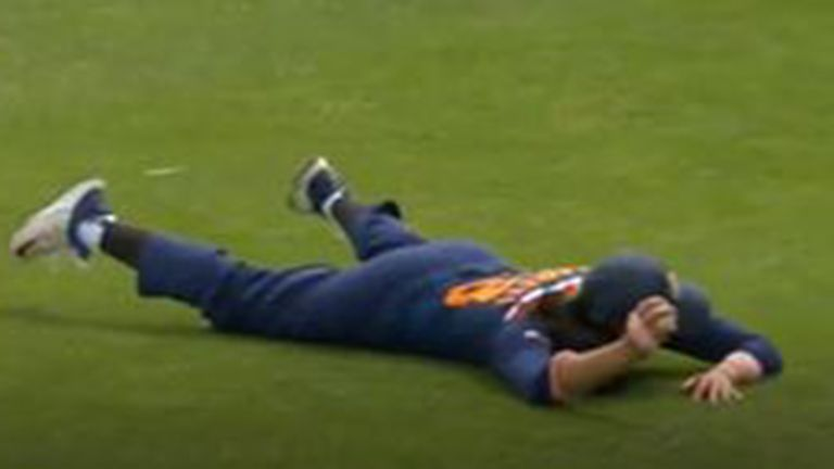 Smriti Mandhana took an unbelievable diving catch on the boundary to dismiss Nat Sciver in the third England Women vs India Women ODI in Worcester.
