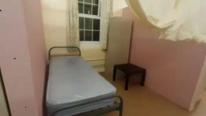 Asylum seekers provided footage of their accommodation inside a former army barracks