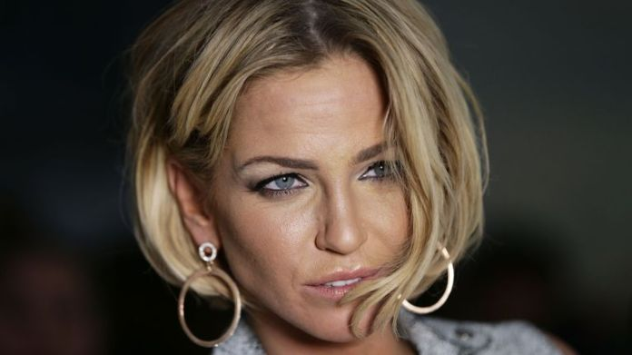 Sarah Harding attending the Jean-Pierre Braganza Autumn/Winter 2015 London Fashion Week show, at the BFC Courtyard Show Space in Somerset House, London. PRESS ASSOCIATION Photo. Picture date: Friday February 20, 2015. Photo credit should read: Yui Mok/PA Wire