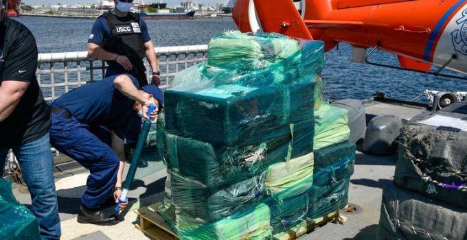 US Coast Guard offloads record .4bn of seized cocaine and marijuana | US News