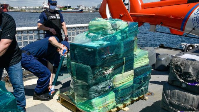 It is the largest haul in the Coast Guard's history
