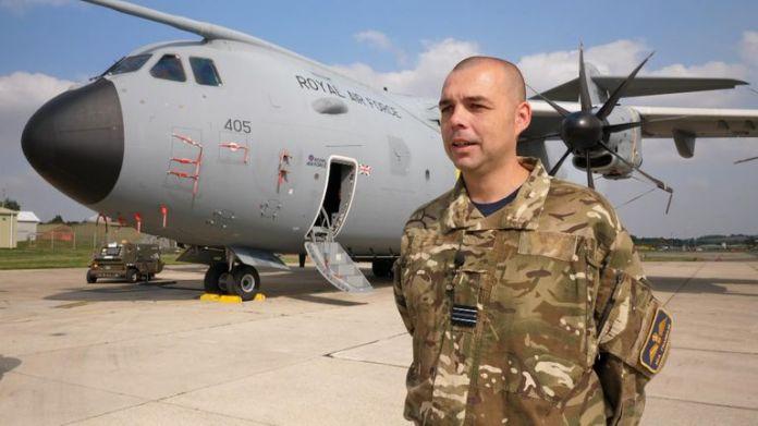 Flight Lieutenant Neil Franklin, of 70 Squadron