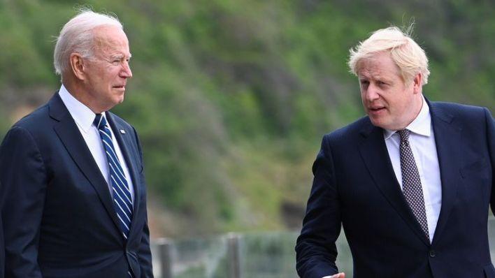 Boris Johnson and Joe Biden have agreed the partnership with Australian prime minister Scott Morrison