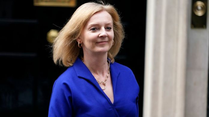 Britain's new Foreign Secretary Liz Truss leaves 10 Downing Street, in London, Wednesday, Sept. 15, 2021. Liz Truss replaced Dominic Raab as foreign secretary in a cabinet reshuffle by British Prime Minister Boris Johnson on Wednesday. PIC:AP