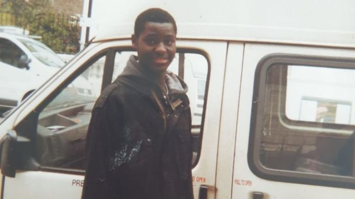 Mardoche Yembi, pictured as a teenager, was accused of witchcraft by relatives