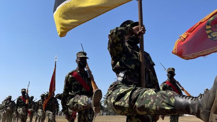 1000 Rwandan military personnel have been in the country